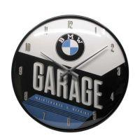 Wanduhr-BMW-Garage-vorn