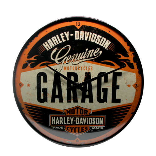Wanduhr-Harley-Davidson-vorn