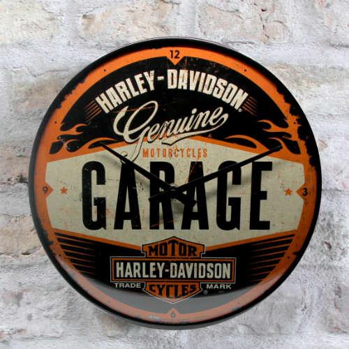 Wanduhr-Harley-Davidson