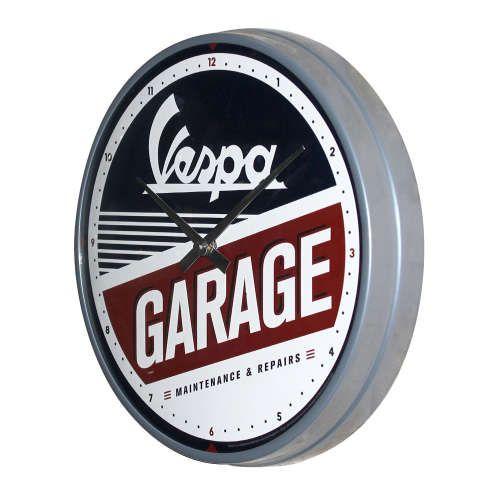 Wanduhr-Vespa-Garage-seite