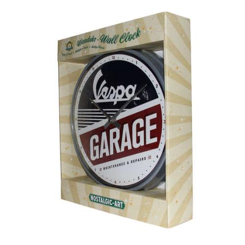 Wanduhr-Vespa-Garage-verpackt