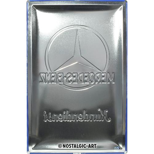 Blechschild 40x60-Mercedes-Benz-Kundendienst-hinten