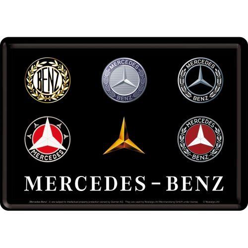 Blechpostkarte-Mercedes-Benz-Logo-Evolution
