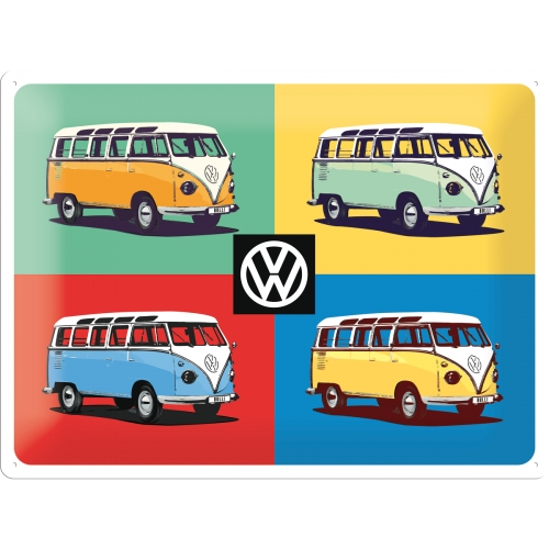 Blechschild-VW-Bulli-Pop-Art