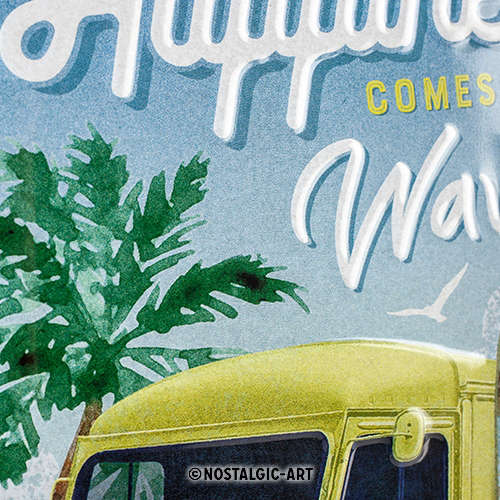 Blechschild 20x30 Citroen Type H Happiness Comes In Waves nah