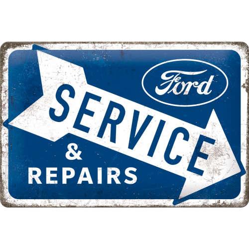 Blechschild 20x30 Ford Service Repairs