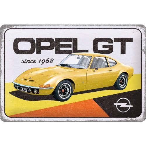 Blechschild 20x30 Opel GT since 1968