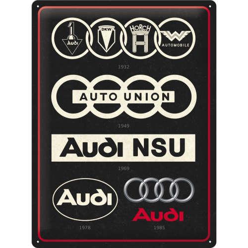 Blechschild 30x40 Audi Logo Evolution