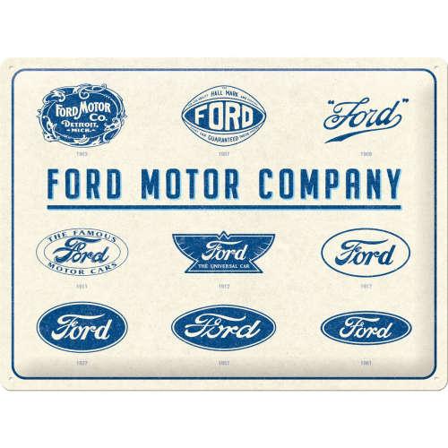Blechschild 30x40 Ford Logo Evolution