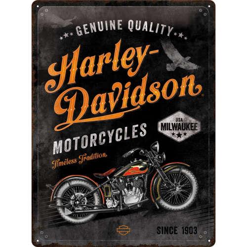 Blechschild 30x40 Harley-Davidson Timeless Tradition