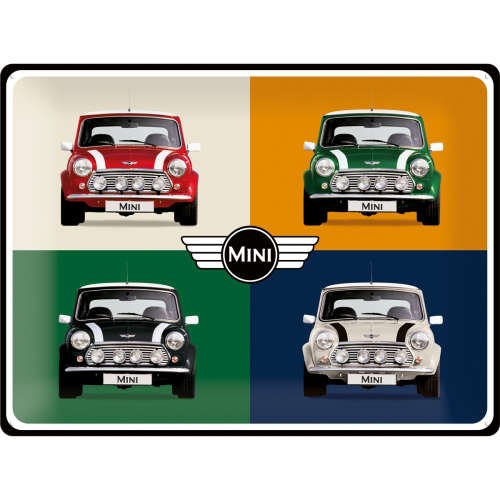 Blechschild 30x40 Mini 4 Cars Pop Art
