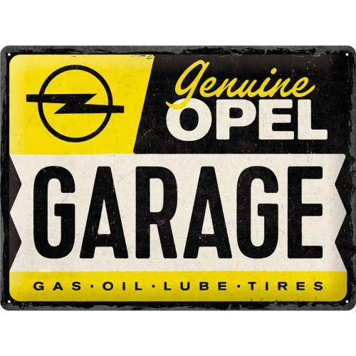 Blechschild 30x40 Opel Garage