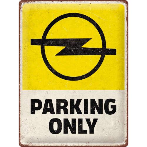 Blechschild 30x40 Opel Parking Only