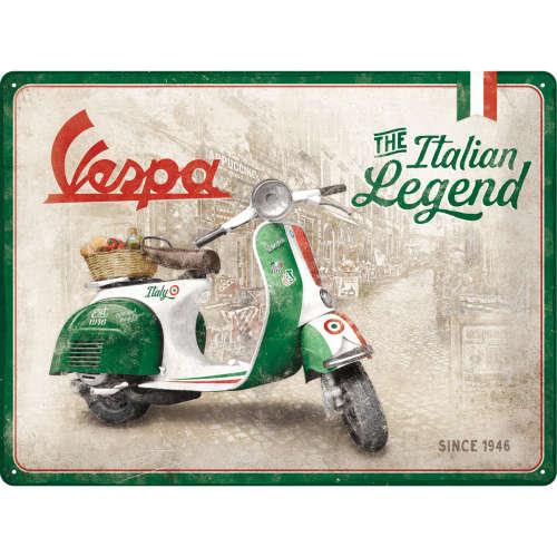 Blechschild 30x40 Vespa Italian Legend