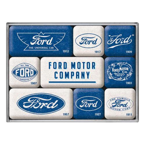 Magnet-Set Ford Logo Evolution