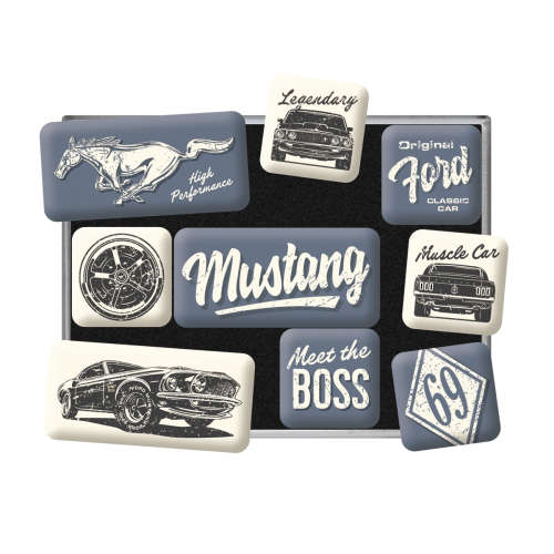 Magnet-Set Ford Mustang The Boss detail