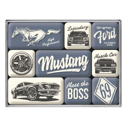 Magnet-Set Ford Mustang The Boss