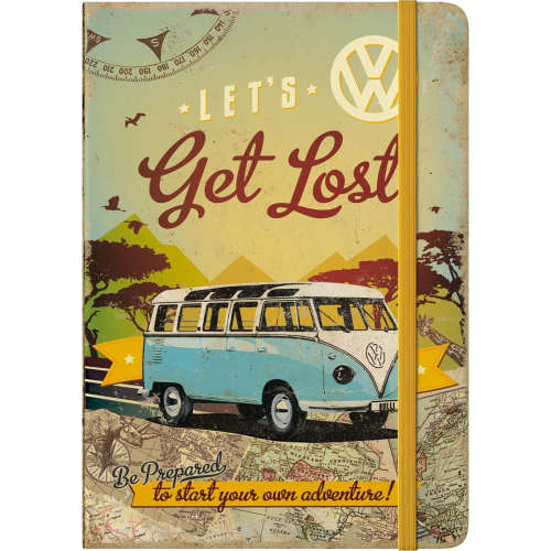 Notizbuch VW Bulli Lets Get Lost