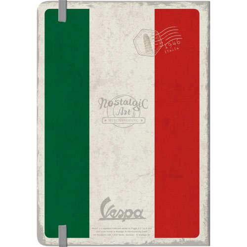 Notizbuch Vespa The Italian Classic hinten