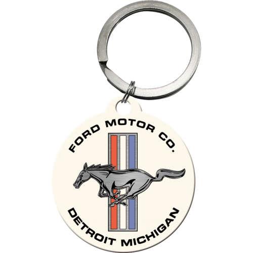 Schlüsselanhänger Ford Mustang Horse Stripes Logo