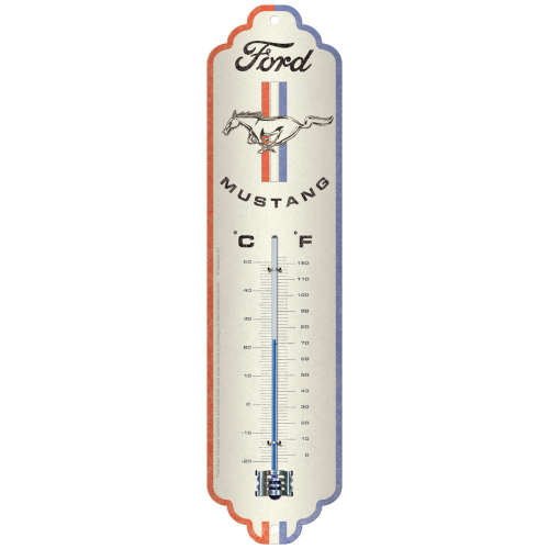 Thermometer Ford Mustang Horse Stripes Logo